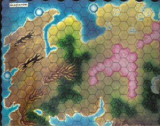 Warangel Accessory - Hexed Map of 1st Generation - Gladiators {Gladiatori} (England) by Angelo Porazzi Games